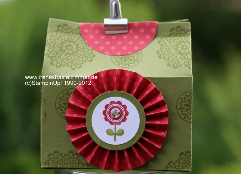 Stampin`Up!+Mini Milch Karton+Delicate Doilies+Mixed Bunch+ Funky Four+Simply Scored