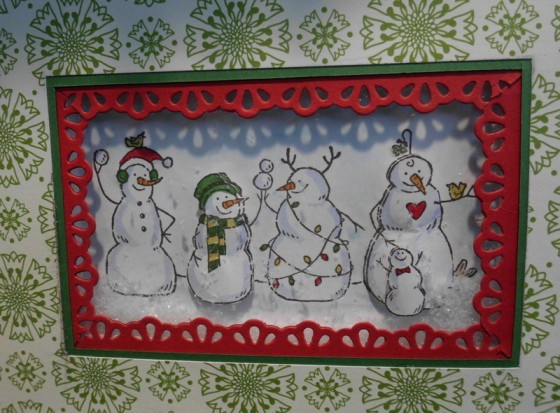 Frosty Friends,Stampin`Up!,Convention 2012, Sternstanzer, Weihnachtskarte,Big Shot