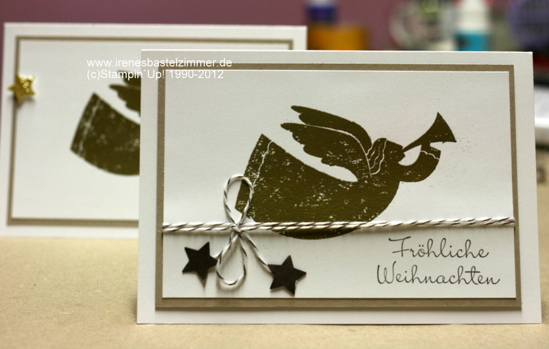 Stampin Up Wunderbare Weihnachtsgrüße.Weihnachtskarte Stampin Up Rejoicing With You Embossing