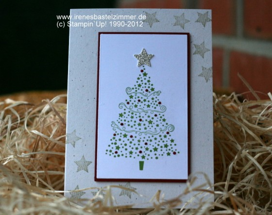 Star Tree-Merry Minis-Stampin' Up!-Weihnachtskarte-Sternstanzer