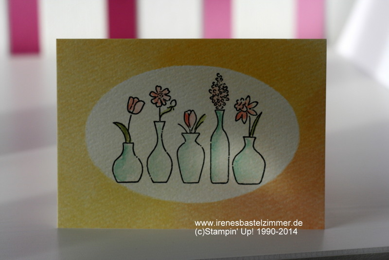 Stampin' Up!-Vivid Vases-Watercolor