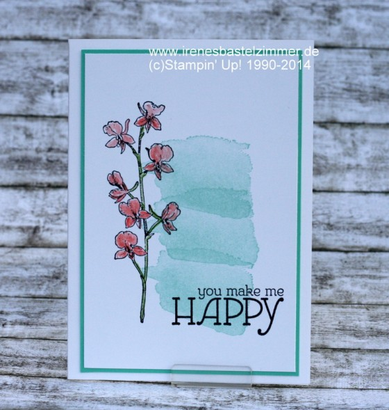 Stampin' Up!-Happy Watercolor-Grußkarte