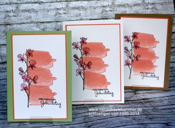 Stampin' Up!-Happy Watercolor-Geburtstagskarte
