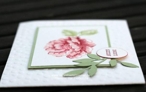 Stampin' Up!-Stippled Blossoms-Danke Karte