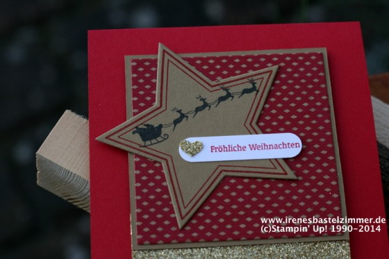 stampin'up-many merry stars-weihnachtskarte