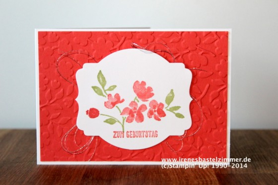 Stampin' Up!-Painted Petals-Geburtstagskarte