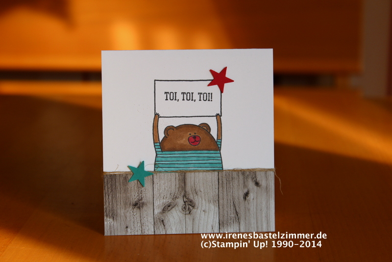 stampin' Up!-cheerful critters-grußkarte