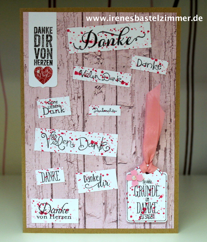 Stampin' Up!-Danke Karte