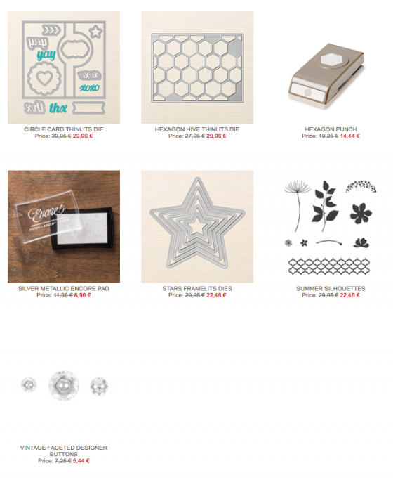 Stampin' Up!-Wochenangebote-weekly deals