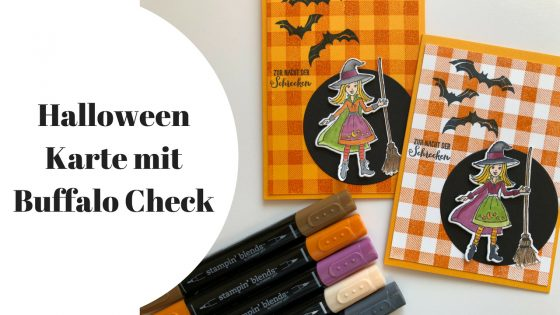 Halloweenkarte mit Buffalo Check