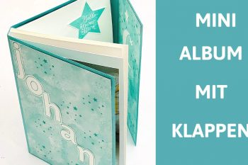 Baby-Mini Album mit Klappen aus Stampin' Up! Material